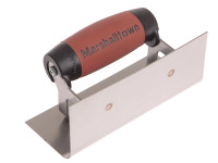 Marshalltown 66SSD Internal Corner Trowel Rounded Stainless Steel DuraSoft Handle from Toolden.