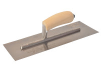 Marshalltown MXS13SS Plasterers Finishing Trowel Stainless Steel Wooden Handle 13in x 5in from Toolden.