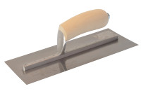 Marshalltown MXS1SS Plasterers Finishing Trowel Stainless Steel Wooden Handle 11in x 4.1/2in from Toolden.