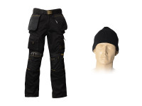 Roughneck Clothing 32in Trouser Pack, Belt, Beanie & Kneepads
