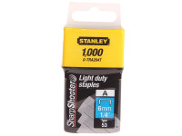Stanley Tools TRA2 Light-Duty Staple 6mm TRA204T Pack 1000