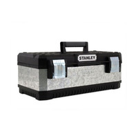 Stanley STA195619 Galvanised Metal Toolbox 58cm/23In (STA195619)