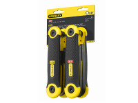 Stanley Tools Hexagon Key Folding Set of 17 Metric Imperial (1.5-8mm 5/64-1/4in)