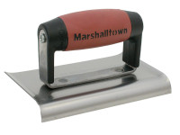 Marshalltown M136D Cement Edger Curved End Durasoft Handle 6in x 3in from Toolden.