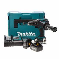 Makita DHP453 18V 2 Speed LXT Combi Drill with Stanley Spirit Level 3 Vial 60cm