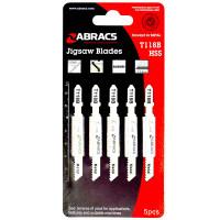 Abracs HSS Jigsaw Blades for Metal T118B - 5 Pack