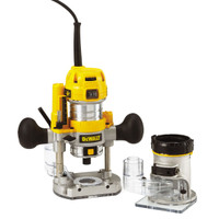DeWalt D26204K 1/4in Premium Plunge & Fixed Base Combi Router 900 Watt 230 Volt from Toolden