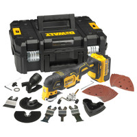 DeWalt DCS355M1 XR Brushless Oscillating Tool 18 Volt 1 x 4.0Ah Li-Ion from Toolden