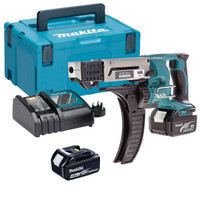 Makita DFR550RMJ 18v Auto-Feed Screwdriver 2x4ah | Toolden