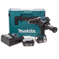 Makita DHP458RMJ 18v LXT Combi Drill 2 x 4.0ah Makpac Connector  from Toolden