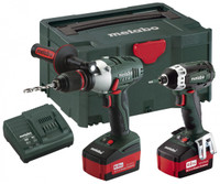 Metabo LTX2 Cordless Kit SB18LTX Combi Drill + SSD18 Impact Driver from toolden
