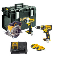 Dewalt 18v 3 Piece Cordless Kit + 2 x  2.0Ah Bluetooth Li-ion Batteries