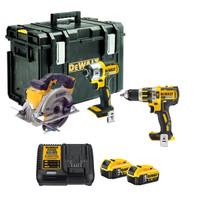 Dewalt 3 Piece Kit + 2x  5.0amp Batteries