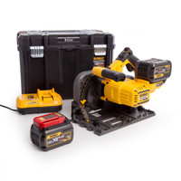 Dewalt DCS520T2 54V FlexVolt 6.0Ah Plunge Saw & Rails Kit from Toolden