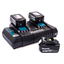 DC18RD Battery Charger & 3 x BL850 5.0Ah Batteries