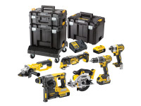Dewalt 7 Piece 18v Li-on Worksite Kit With 5 Amp Batteries |Toolden