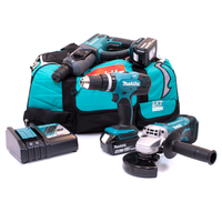 Makita M31 18v 3 Piece Kit with 2 x 4.0Ah Batteries