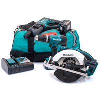 Makita M34 18v 3 Piece Kit with 2 x 4.0Ah Batteries