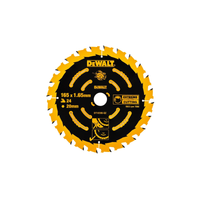 Dewalt  DT10300 Circular Saw Blade 165 x 20mm x 24T Corded Extreme Framing