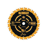 Dewalt Circular Saw Blade 184 x 16mm x 24T Corded Extreme Framing (DT10302)| Toolden