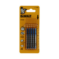 Dewalt Jigsaw Blades for Metal T Shank HSS T118G Pack of 5
