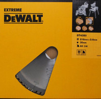 Dewalt Circular Saw Blade 216 x 30mm x 60T Series 60 Fine Finish