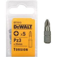 Dewalt DT7213 Torsion Bits PZ3 25mm Pack of 5