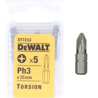 Dewalt DT7233 Torsion Bits PH3 25mm Pack of 5