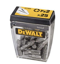 Dewalt DT7908 Torsion Phillips Bits PZ2 25mm Flip Box of 25