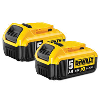 Twin Pack DeWalt DCB184 18v 5.0Ah XR Li-Ion Batteries | Toolden