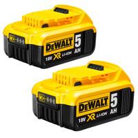Twin Pack DeWalt DCB184 18v 5.0Ah XR Li-Ion Batteries