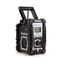 Makita DMR108B Black Jobsite Bluetooth USB Radio | Toolden