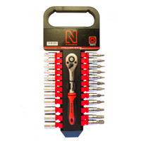 "N-Durance 25 Piece 1/4"" Socket and Bit Set from Toolden."