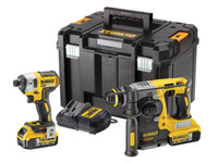 Dewalt DCK2532P2 Impact & SDS Brushless Twinpack | Toolden
