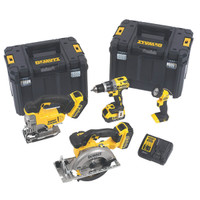 Dewalt DCK457M3T 4 Piece Woodworking Kit With 3 x 4Ah Li-On | Toolden
