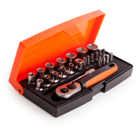 Bahco SL25 Socket Set of 25 Metric 1/4in Drive | Toolden