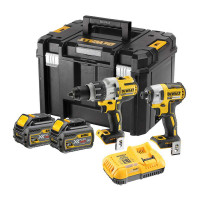 Dewalt DCK276T2T 18 XR Brushless Flexvolt Twin Kit 2 x 6.0Ah Batteries