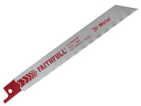 Faithfull Sabre Saw Blade Metal S918E (Pack of 5) from Toolden
