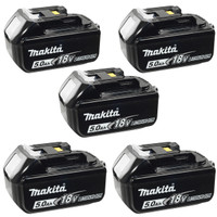 Makita BL1840 18v 4.0Ah LXT Li-Ion Battery Pack of 5