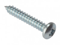 "Self Tapping 1"" x  10 Pan head zinc Plated Screws"