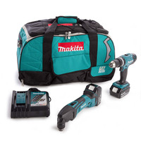 Makita DTMHP450 18v Twin Pack with 2 x 4.0Ah Batteries
