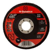 N-Durance 115 x 22 - 40 Grit Aluminium Oxide Flap Disc