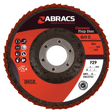 Abracs Ceramic Flap Disc 115mm x 22mm x 120G