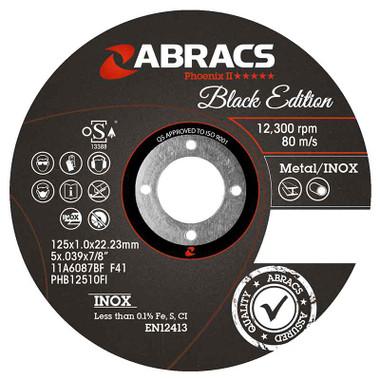 Abracs Black Edition Extra Thin Cutting Discs 115mm x 1.0mm x 22mm