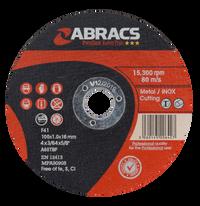 Abracs Proflex Extra Thin Discs 100mm x 1.0mm x 16mm