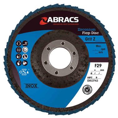 ABRACS FLAP DISC 100mm x 40g Pack of 5