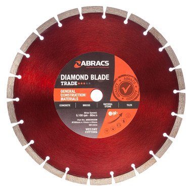 Abracs ABDD30020M Trade General Purpose Diamond Blade 350mm  | Toolden