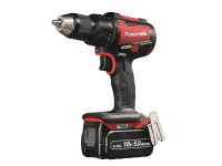 Panasonic EY79A2LJ2G31 18v Brushless Red Carbon Combi Drill with 2 x 5.0Ah Batteries