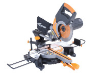 Evolution RAGE-3+ 255mm Self Assembly Sliding Mitre Saw 2000 Watt 110 Volt