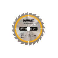 Dewalt DT1949 Construction Circular Saw Blade 165 x 20mm x 24T